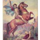 St Demetrios Satan Saint Sophia Cathedral Los Angeles CA Vintage Postcard