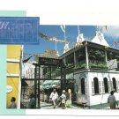 St Maarten Caribbean Old Street Beaujolais Restaurant Vintage Postcard