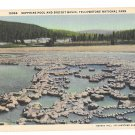 WY Yellowstone Park Sapphire Pool Biscuit Basin Haynes Linen Postcard