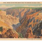 WY Yellowstone Park Grand Canyon Grand View Vtg Haynes Postcard