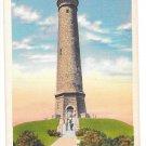 MA Duxbury Myles Standish Monument Vtg Linen Postcard Massachusetts