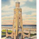 FL Daytona Beach Clock Tower Boardwalk Vintage Linen Postcard
