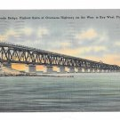 FL Bahia Honda Bridge Overseas Highway Key West Vintage Postcard
