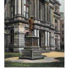 Boston MA Benjamin Franklin Statue City Hall Vintage Postcard UDB