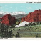 CO Pikes Peak Gateway Garden of the Gods Vintage Postcard Colorado