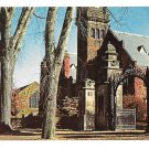 MA Mt Holyoke College Mary Lyon Gate & Tower Vintage Chrome Postcard
