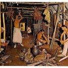 Delaware Indian Longhouse William Penn Museum Harrisburg PA Exhibit Postcard