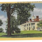 VA Mount Vernon East View Mansion Vntg Linen Postcard
