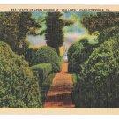 VA Charlottesville Ash Lawn James Monroe Statue Linen Postcard