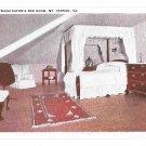 VA Mount Vernon Martha Washington's Bedroom BS Reynolds Postcard