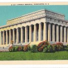 Washington DC Lincoln Memorial Vtg BS Reynolds Linen Postcard