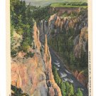 WY Yellowstone National Park Needle Grand Canyon Vintage Haynes Postcard