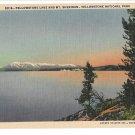 WY Yellowstone Lake & Mt Sheridan Vtg Haynes National Park Postcard