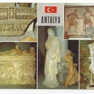 Turkey Antalya Multiview Ancient Art Statues Postcard 4X6