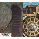 Turkey Derinkuyu Underground City Church Multiview Vintage Postcard 4X6