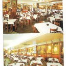 Haussner's Restaurant Baltimore MD Interior Vintage dual view Postcard