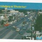 Texas Fredericksburg Aerial Street View 1993 Vtg Postcard TX