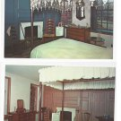 PA Valley Forge George Martha Washington Bed Rooms Set of 2 Postcards