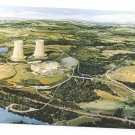 Limerick PA Nuclear Power Plant Postcard Atomic Energy Artist Rendering