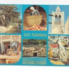Africa Tunisia Sud Tunisien Multiview Vintage Postcard 4X6