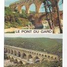 France Pont Du Gard Roman Aqueduct Dual View Vntg 4X6 Postcard