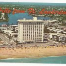 FL Fort Lauderdale Hotels Motels Beach Greetings Vtg Aerial View Postcard