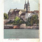 Switzerland Gruss aus Basel Greetings View of Church Vintage Postcard