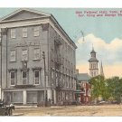 York PA Odd Fellows Hall IOOF King & George St Vintage 1914 Postcard