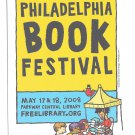 Modern Advertising Postcard Philadelphia Book Festival 2008 Central Library