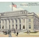 York PA New Post Office Artists Rendering George and Princess Sts Vintage Postcard