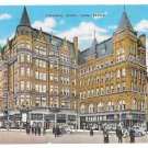 York PA Colonial Hotel Continental Square Vintage Kropp Linen Postcard