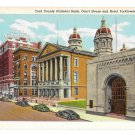 York PA National Bank Court House Hotel Yorktowne Vintage Postcard