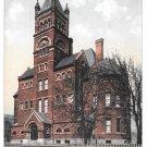 York PA College Collegiate Institute Vintage UDB Postcard 1907 Flag Cancel