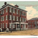 York PA Hospital and Dispensary Corner W College & Oak Lane Vntg Postcard