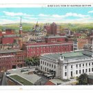 York PA Business District Post Office Birds Eye View Vintage Postcard