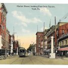 York PA Market St Looking East from Square Jessop Culp Vntg Postcard