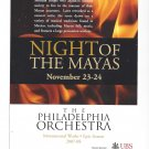 Philadelphia Orchestra Night of the Mayas Concert Advertising Postcard
