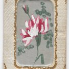 Vintage Padded silk Novelty Postcard Hand-Painted Flower