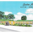 Guestina Motel Blaine Tennessee Vintage Postcard Old Car US 11