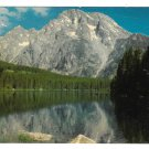 Mt. Moran and Leigh Lake Grand Teton National Park Vintage Postcard Joseph Muench Photo