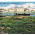 Port Arthur Bridge Over Neches River Hwy 87 Orange Texas Vintage Postcard