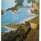 South Vietnam Aerial View Qui Nhon Coastal Plain Vintage Postcard