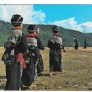 Laos Yao Northern Tribal Women in Traditional Dress Vintage 1971 Postcard