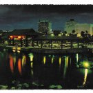 Philippines Manila Rizal Park Chinese Garden Pavilion Night View Vintage Postcard