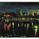 Philippines Manila Rizal Park Chinese Garden Pavilion Night View Vintage Postcard
