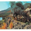 Durango Silverton Narrow Gauge RR Train Doubleheading Rockies Petley Postcard