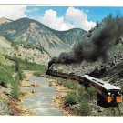 Colorado Narrow Gauge RR Train Las Animas River Canyon Petley Railroad Postcard 4X6