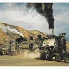 Durango Silverton Narrow Gauge Train Steam Engine Petley Railroad Postcard 4X6