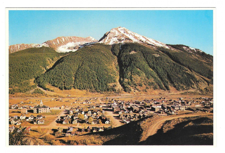CO Silverton Colorado Aerial View San Juan Natl Forest Petley Postcard 4X6