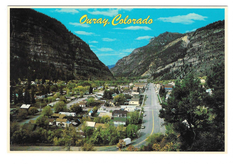 Ouray Colorado Aerial View Rocky Mountains Vintage Petley 4X6 Postcard
